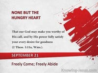 Freely Come; Freely Abide