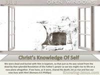 Christ's Knowledge Of Self
