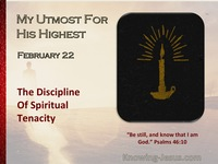 The Discipline Of Spiritual Tenacity