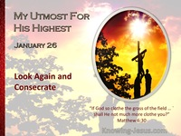 Look Again and Consecrate