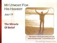 The Miracle Of Belief