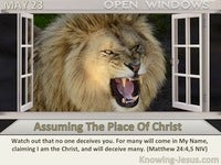 Assuming The Place Of Christ