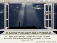 He Loved them unto the Uttermost