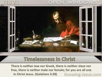 Timelessness in Christ