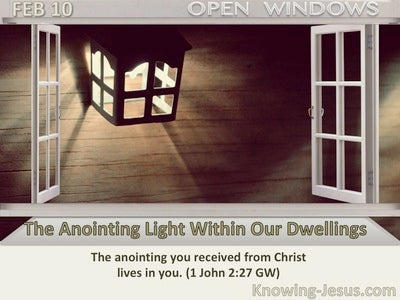 The Anointing Light Within Our Dwellings