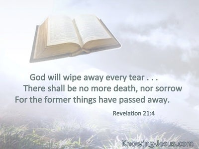 God will wipe away every tear . . . ; there shall be no more death, nor sorrow. . . . For the former things have passed away.