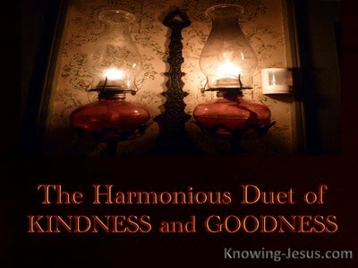 Harmonious Duet of Kindness and Goodness