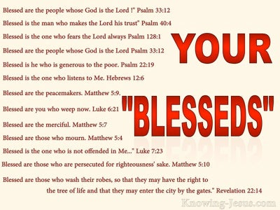 "Your ""Blesseds"""
